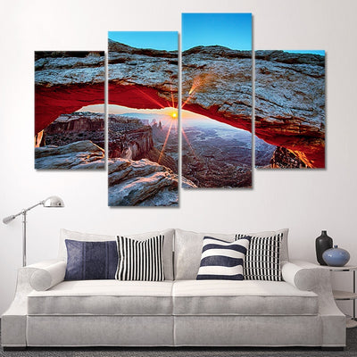 Sunrise At Mesa Arch Canvas Wall Art
