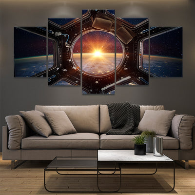 Sunrise View From ISS large Wall Art