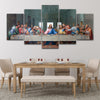 The Last Supper By Leanado Davinci 5 piece canvas wall art