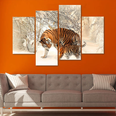 tiger cub wall art set of 4