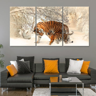 tiger cub 3 piece wall art