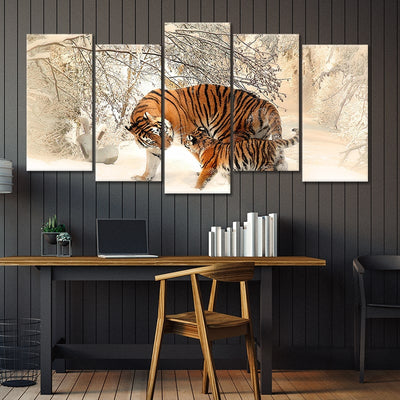 tiger cub 5 piece wall art