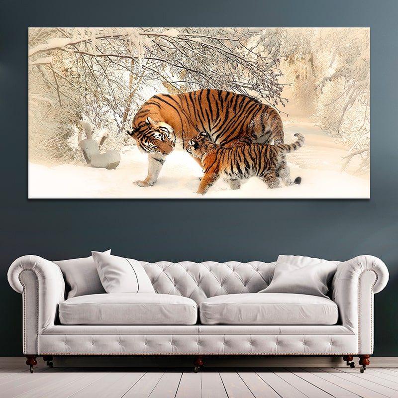 tiger cub canvas wall art large