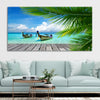 Tropical Dock canvas wall art large