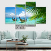 Tropical Dock wall art set of 4