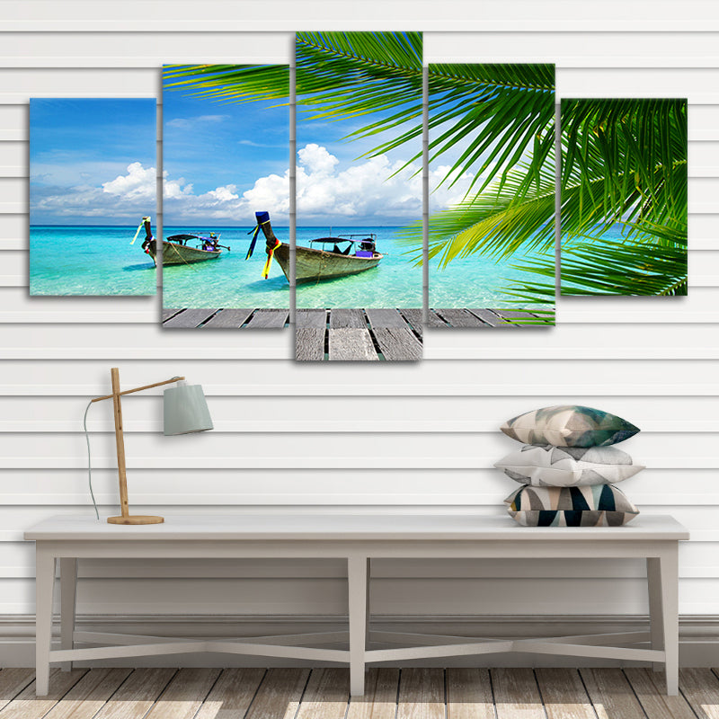 Tropical Dock 5 piece canvas art