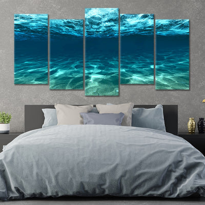 underwater picture of the ocean 5 piece wall art