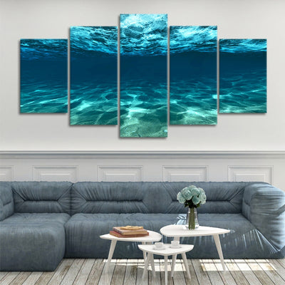 underwater picture of the ocean 5 piece canvas art