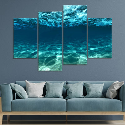 underwater picture of the ocean wall art set of 4