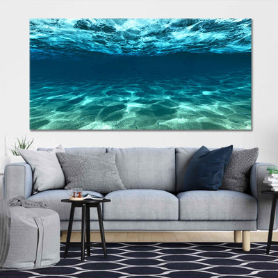 underwater picture of the ocean canvas wall art large