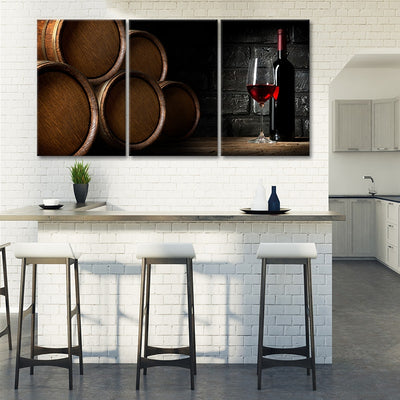 Wine Barrels canvas prints cheap
