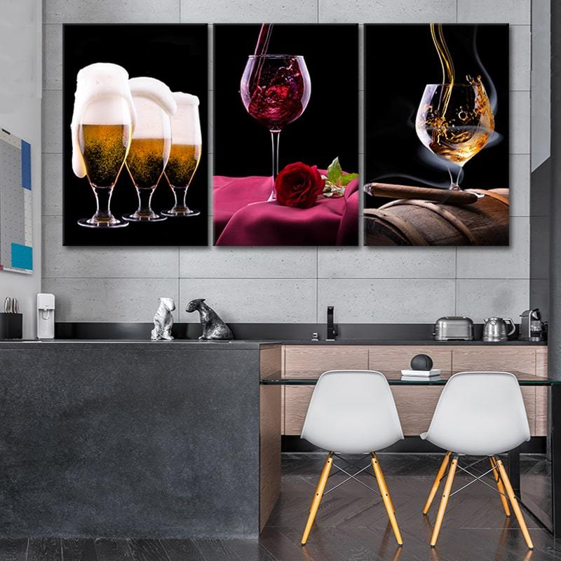 Beer Wine & Rose big canvas