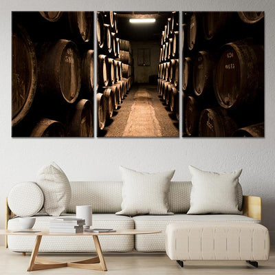 Wine Cellar 3 piece canvas art