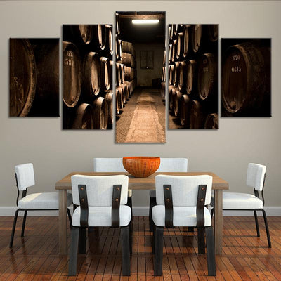 Wine Cellar 5 piece canvas art