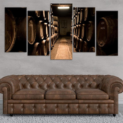 Wine Cellar 5 piece wall art