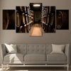 Wine Cellar 5 piece wall art canvas
