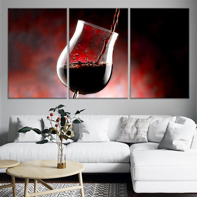 Wine Glass Oz 3 piece wall art