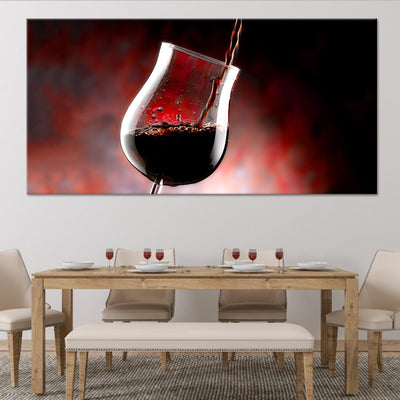 Wine Glass Oz canvas wall art large