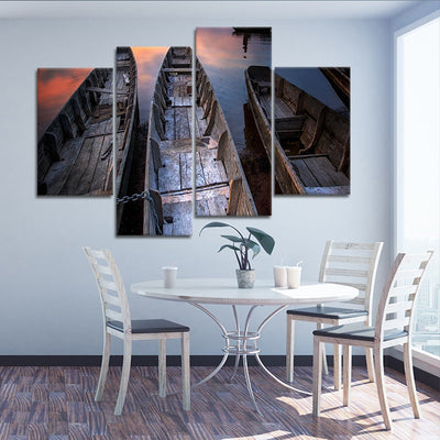 Wooden Fishing Boats Canvas Prints Cheap