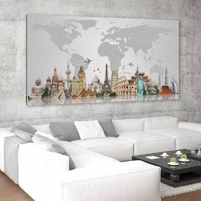 decorative wall maps of the world