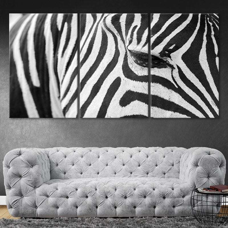 Zebra Multi Panel Canvas Wall Art