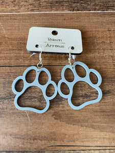 Game Day Paw Earrings