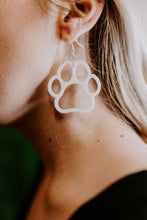 Load image into Gallery viewer, Game Day Paw Earrings