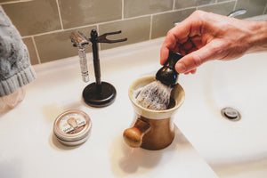 How to Lather Your Tallow Shave Soap