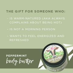 Peppermint for the warm natured person.