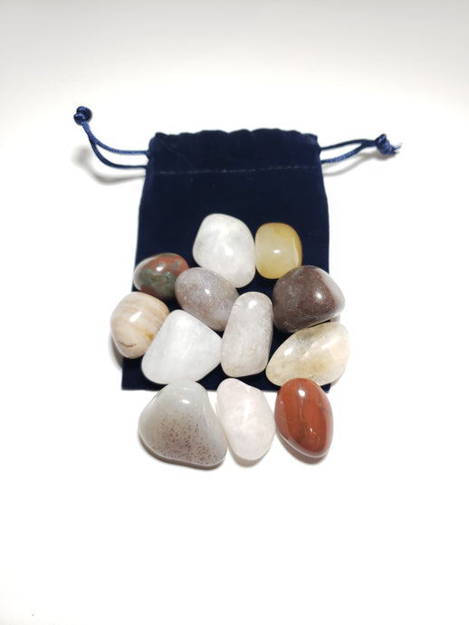 Large Assorted Pebble Patch Pouch