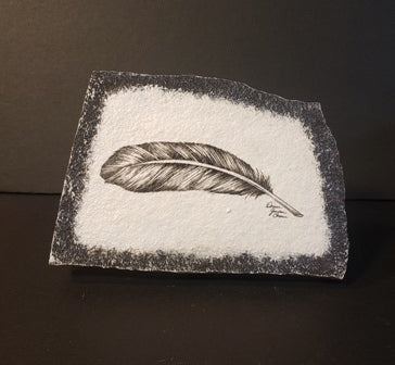 Stone Art Feather