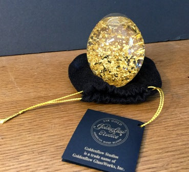 Snowdome Egg with 23K Gold leaf