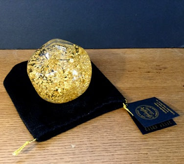 Snowdome with 23K Gold leaf large