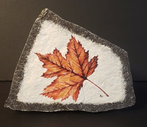 Stone Art Maple Leaf, Red, X Small