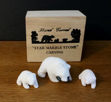 Load image into Gallery viewer, STAR MARBLE Bear with Fish & Cubs