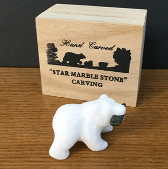 STAR MARBLE Bear with Fish