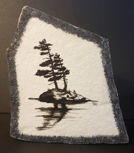 Load image into Gallery viewer, Stone Art, Windswept Pines, Black
