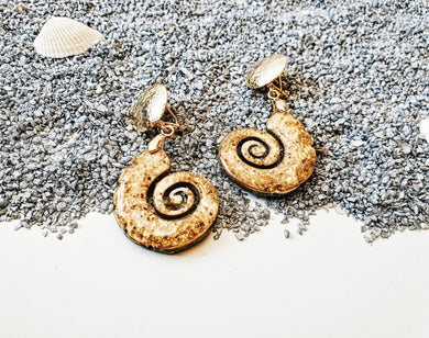 Shark Eye Golden Earrings