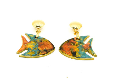 Aretes Pez Naranja - Sweet Water / Large