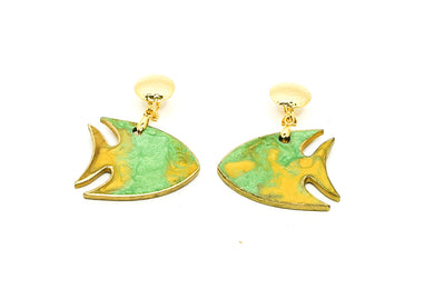 Aretes Pez Verde - Sweet Water / Large