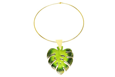 Triangulo Hoja Green Necklace