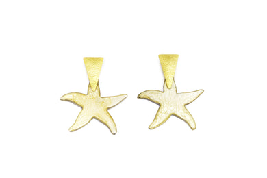 Aretes Triangle Estrella Nude - Sweet Water / Large