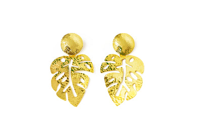 Aretes Hojas Gold - Just One
