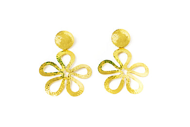 Aretes Flor Slim Gold - Just One