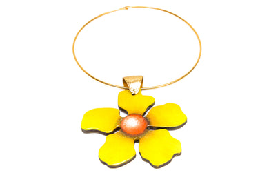 Collar Flor Amarilla - Puro Color