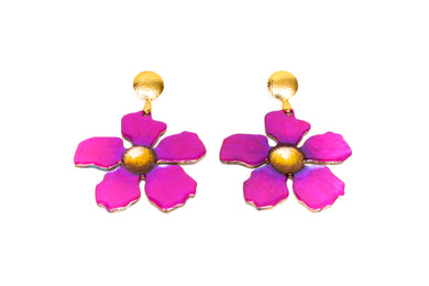 Aretes Flor - Puro Color / Large