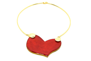 Collar Corazón Rojo F - Puro Color / Medium