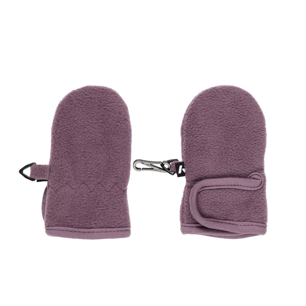 Muffole / Guanti in Pile Prugna con Velcro Bimba | Name It