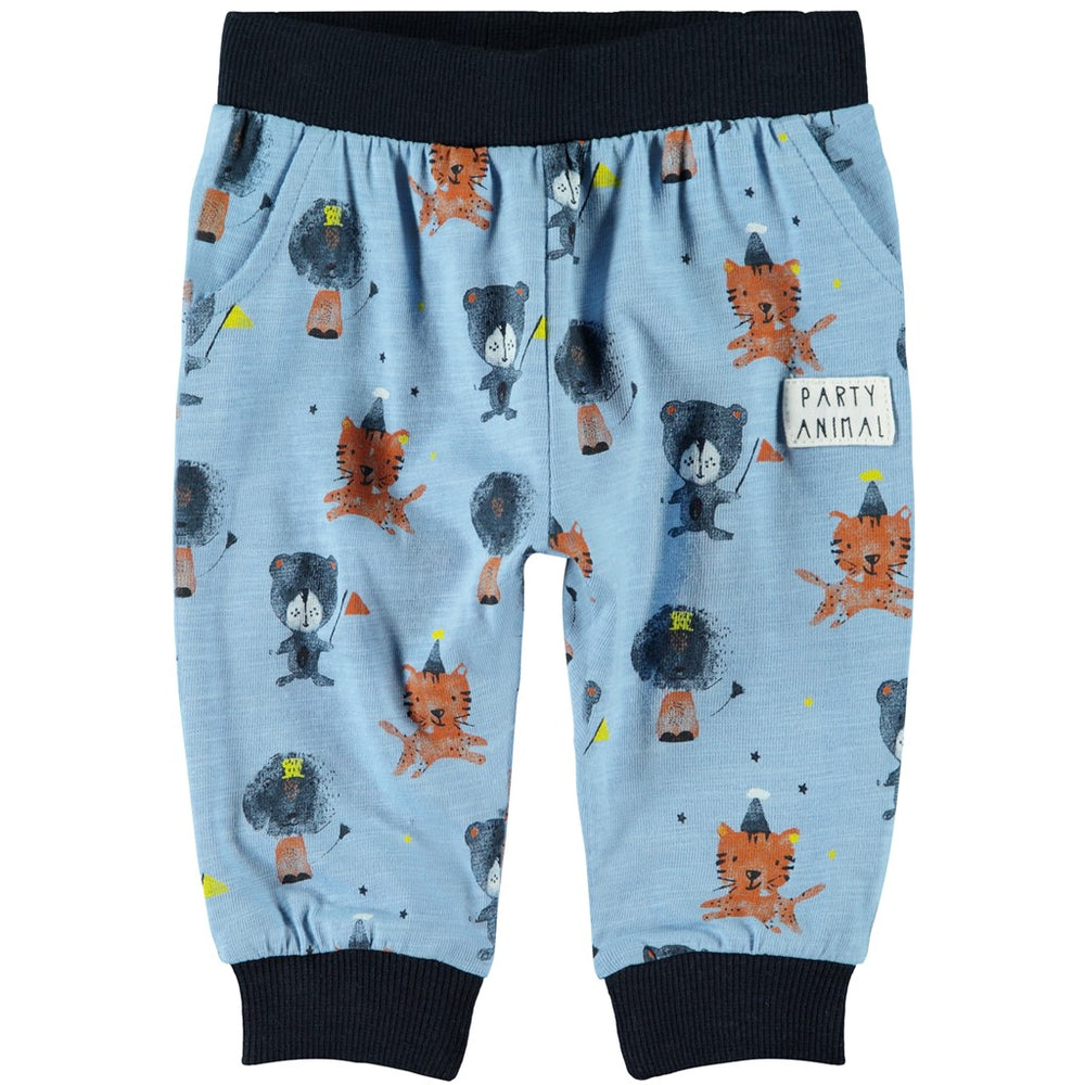 Pantaloni in Cotone Bio Blu Festa Animali Bimbo | Name It