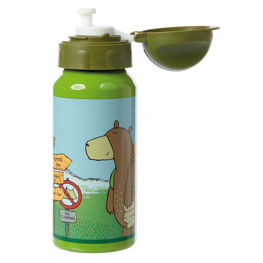 Borraccia Tappo Sicurezza Alluminio 400ml Forest Grizzly Sigikid 24768